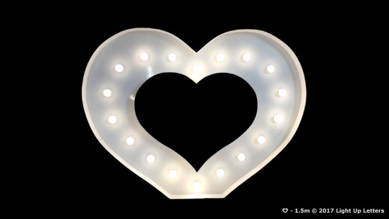 The Letter Heart Light Up Letter 1.5m Tall