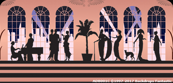 Art Deco - 1920's Event Theming Party Backdrop