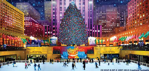 Christmas Backdrops - Rockefeller Centre Backdrop- Christmas Backgrounds