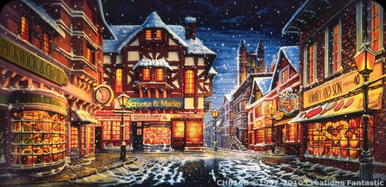 Christmas Village Backdrop - Christmas Village Backgroup - Hire Backdrops For Your Next Event
