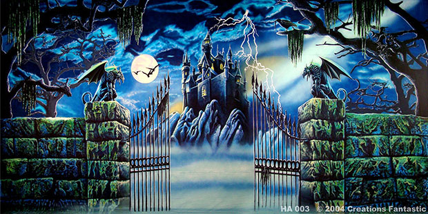 Haunted Castle Event Backdrop image