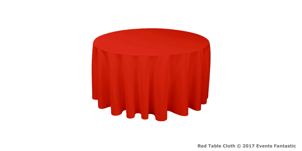red table cloth for hire