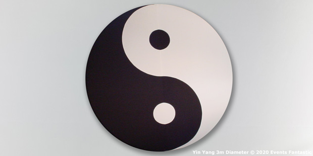 Yin Yang Event Prop Sign