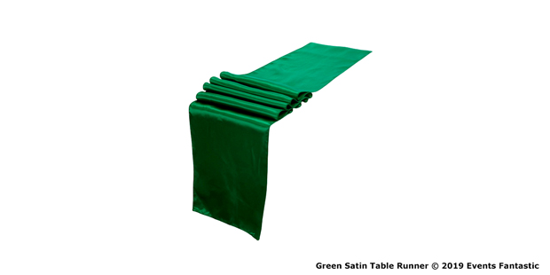 Green Satin Table Runners
