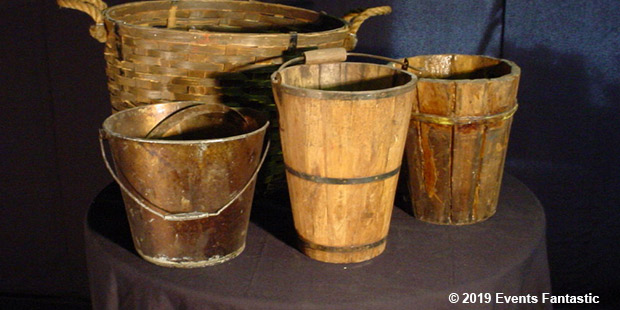 Assorted Vintage Buckets Event image