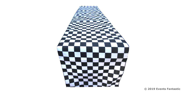 BLACK AND WHITE CHECK RUNNER PRODUCT IMAGE