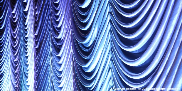 Austrian Drapes Under Blue Light