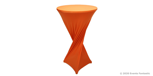 Orange Dry Bar Cover for Events