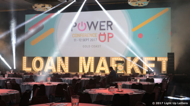 Loan Market Conference Light Up Letter 1.5m Tall Event Photo