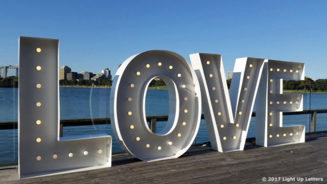 Love Wedding Light Up Letter 1.5m Tall Event Photo